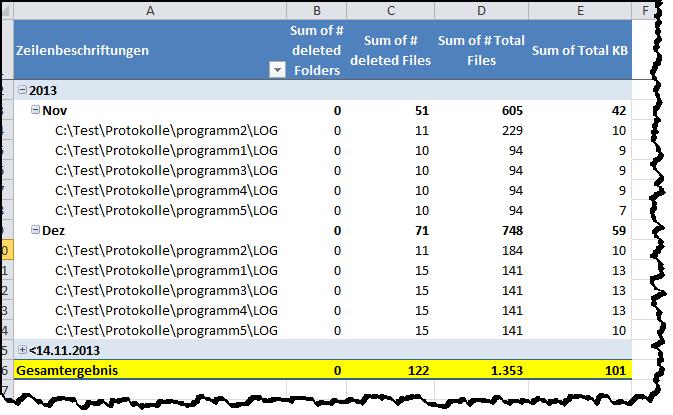 osDeleteOldFiles Intelligentes löschen von Dateien und Ordner - screen03