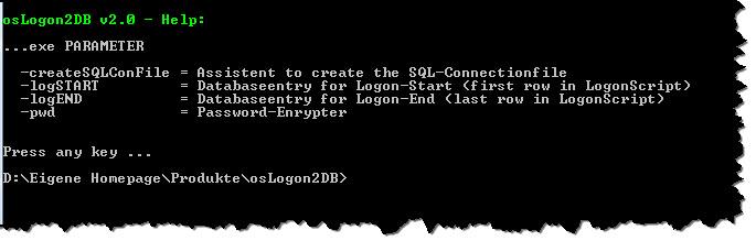 osLogon2DB - Dateistruktur übersichtlich darstellen